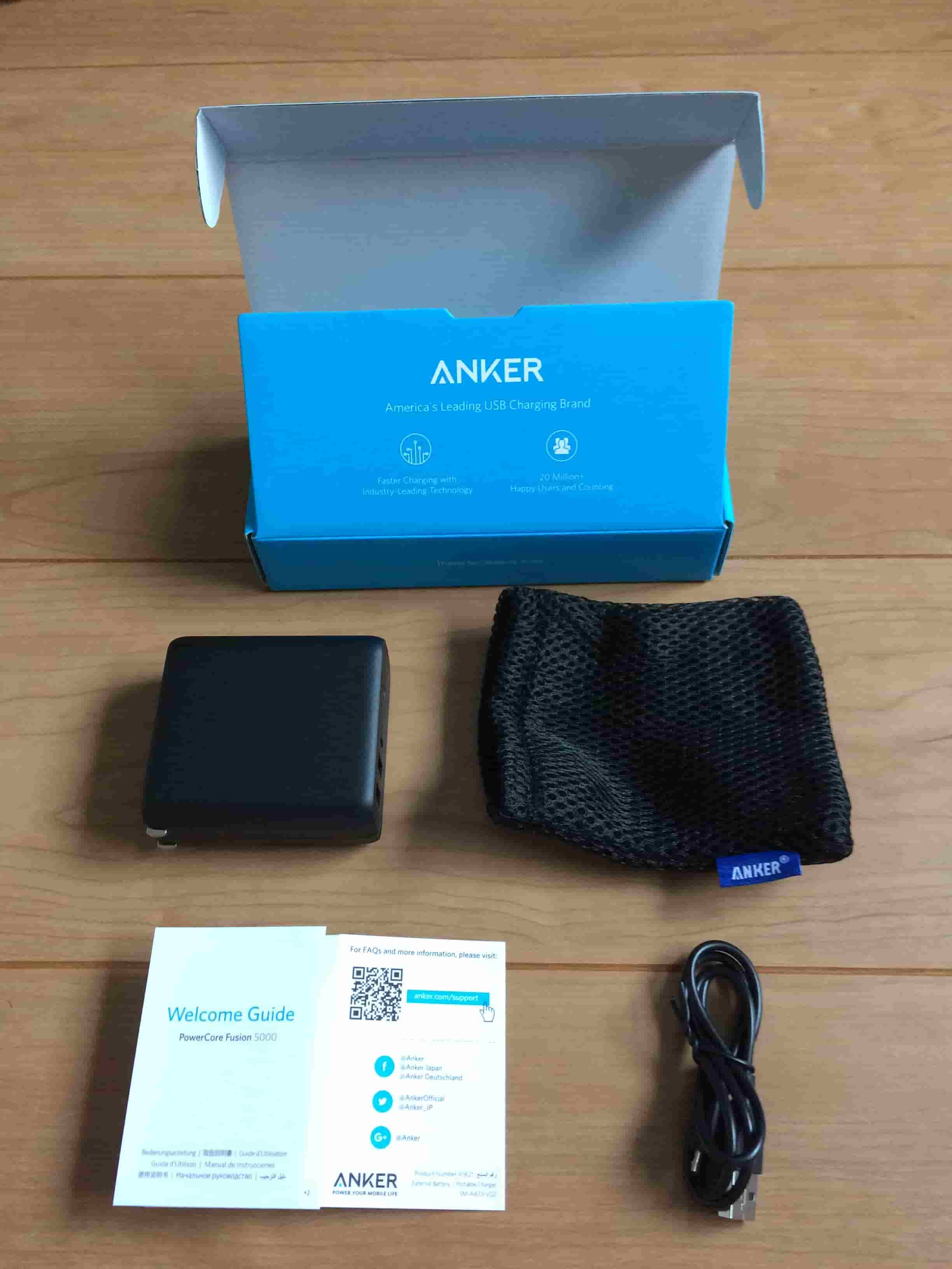 Anker PowerCore Fusion5000の画像